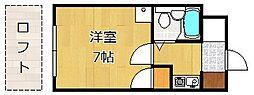 クレスト黒崎[508号室]の間取り