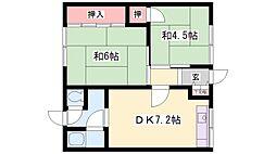 白菊マンション[2-5号室]の間取り