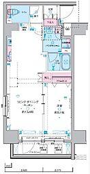 JR総武線 浅草橋駅 徒歩5分の賃貸マンション 3階1LDKの間取り
