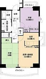 URアーバンラフレ小幡7号棟[2階]の間取り