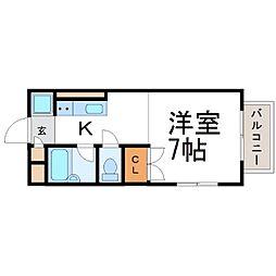 ハイツアジュレ[1階]の間取り