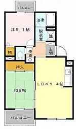 大阪府枚方市長尾家具町2丁目の賃貸アパートの間取り