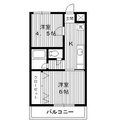 東京都練馬区豊玉上の賃貸マンションの間取り