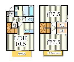 セントラルパークハイツA[1階]の間取り