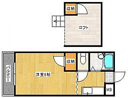 アトリウム津福本町[3階]の間取り