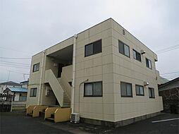 茨城県土浦市小松1丁目の賃貸アパートの外観