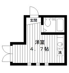 東京都練馬区小竹町2丁目の賃貸アパートの間取り