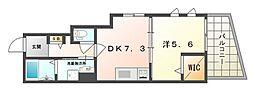フースアルティザインハイム 1階1DKの間取り