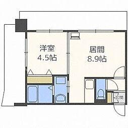 北海道札幌市中央区南一条西24丁目の賃貸マンションの間取り