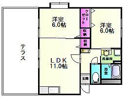 アーバニティ2[1階]の間取り