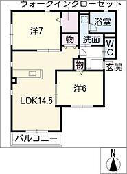 マ・メゾン エクラ[1階]の間取り
