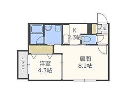 仮)北11東11マンション[1階]の間取り