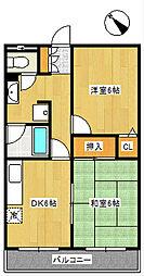 ネオフラッツB棟[1階]の間取り
