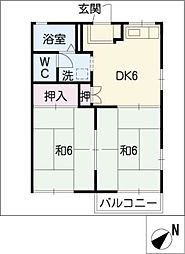 左京山ヒルズ[2階]の間取り