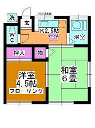 ヨシノハイツ[103号室]の間取り