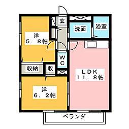 グランパーク I棟[1階]の間取り