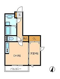 プラム・リリア[3階]の間取り