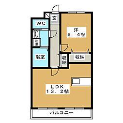 アルバクオーレ A棟[2階]の間取り
