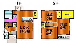 [タウンハウス] 岡山県岡山市中区原尾島2丁目 の賃貸【/】の間取り
