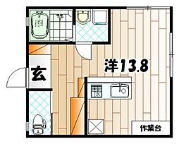 Hattori Apartment[2階]の間取り