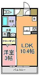 仮)D−room中成沢町[202号室]の間取り