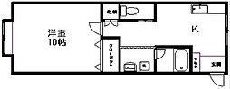 コーポグレイト[1-A号室]の間取り