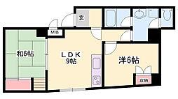 ザ・ライフ寺池[2階]の間取り