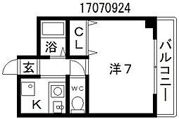 ディアコートニシタナベ[2階]の間取り
