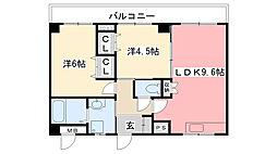 Sempre Vita南甲子園[2階]の間取り