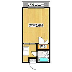 ハイツサンルート[3階]の間取り