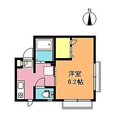 埼玉県さいたま市中央区大戸3丁目の賃貸アパートの間取り