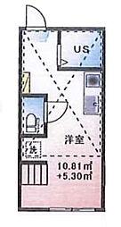 (仮称)ルームズ西早稲田A棟[202号室]の間取り