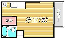 山恵フジ2[4階]の間取り
