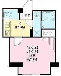 パンヴィラージュ大井町[2階]の間取り