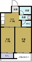 第三倉本ビル[3階]の間取り