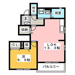 メゾン エタニティI[1階]の間取り