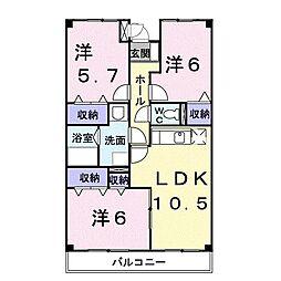 昭和エクセランマンション[0305号室]の間取り