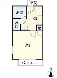 イーストコート大山寺[2階]の間取り