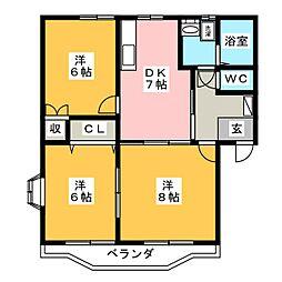 ファインステージ[2階]の間取り
