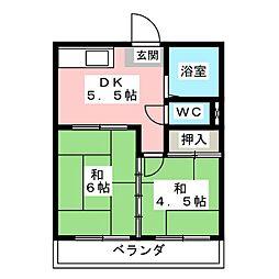 珠実荘[2階]の間取り