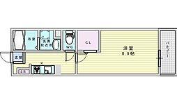 JR東海道・山陽本線 吹田駅 徒歩21分の賃貸マンション 2階1Kの間取り