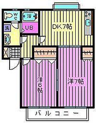 ラヴィッサンヴィー[2階]の間取り