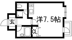 兵庫県宝塚市伊孑志2丁目の賃貸マンションの間取り