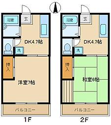 ブルーベルハウスA・B[A106号室]の間取り