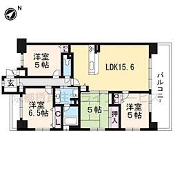 パデシオン西京極410[4階]の間取り