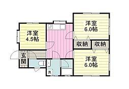 桜井アパート bt[101kk号室]の間取り