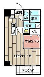 Studie TOBIHATA[11階]の間取り