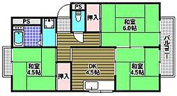 フローラルハイツ[1階]の間取り