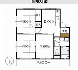 広島県広島市佐伯区千同2丁目の賃貸マンションの間取り