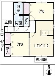 アネックス豊VI[1階]の間取り